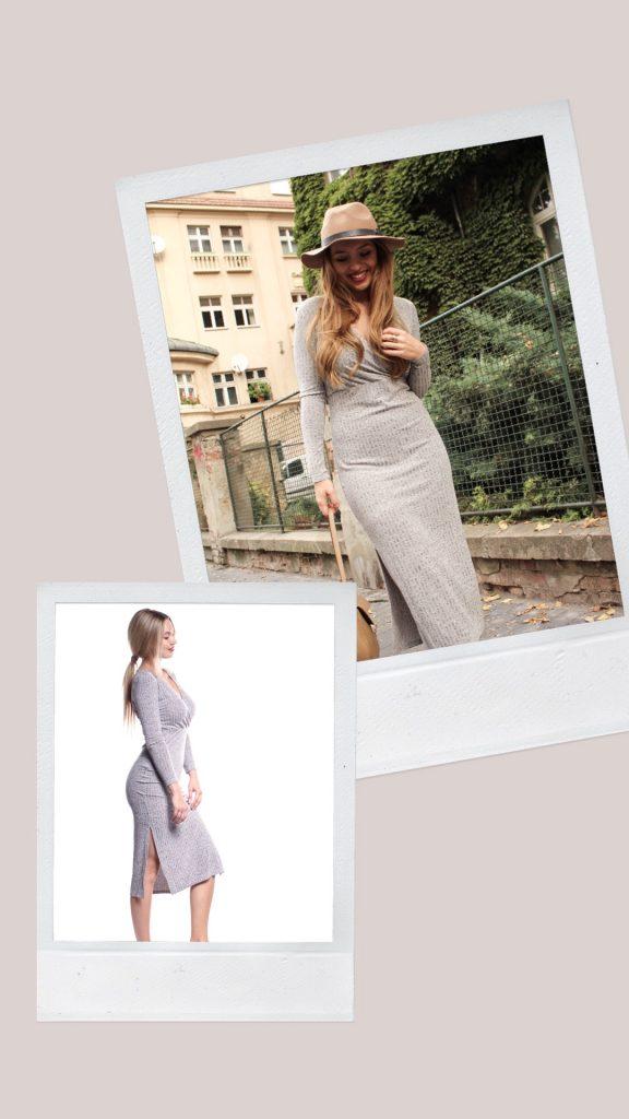 2af9908387d3 SHATY - Šedé elastické midi šaty
